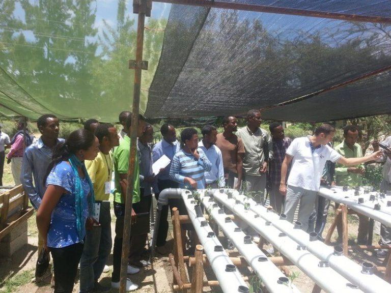 סמינר בנושא אקוופוניקה באתיופיה