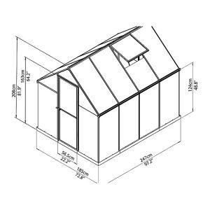חממה ביתית הייבריד – פוליקרבונט זיגוג משולב