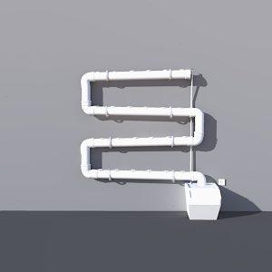 חלקים לבניית מערכת לגידול הידרופוני מותאם אישית – תעלות 1.3 מטר